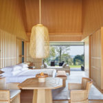 Obývací prostor vily a ložnice