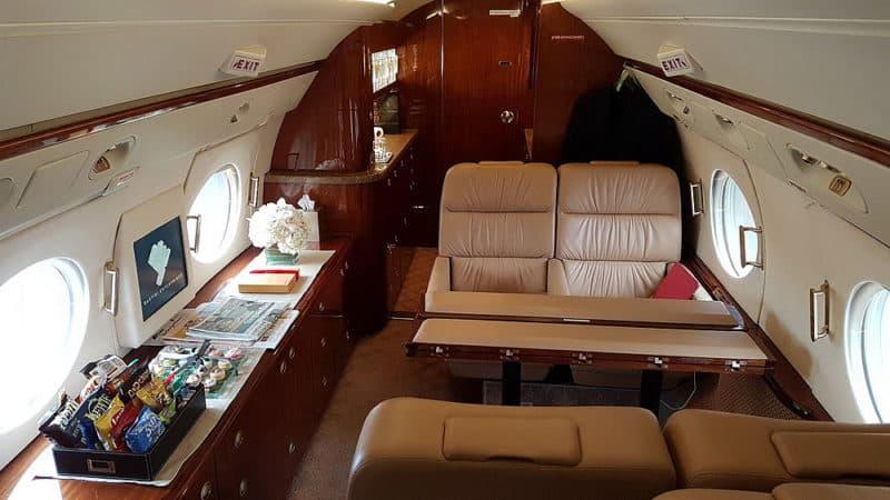 Gulstream G 400, interiér