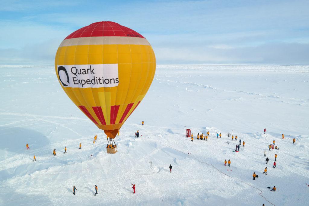 V balónu nad severním pólem