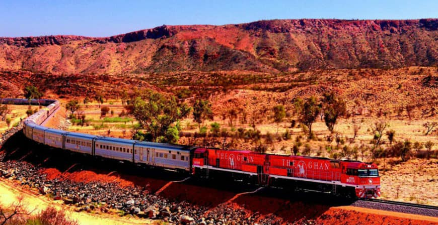 The Ghan: napříč australským vnitrozemím