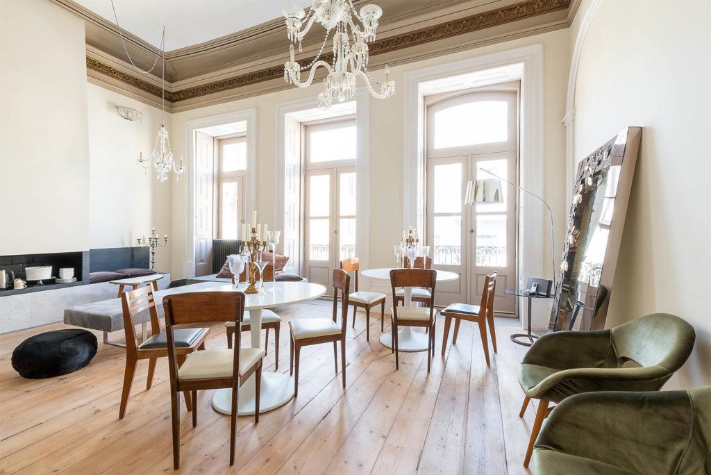 Palácio Fenizia: společný prostor, kde se podává snídaně