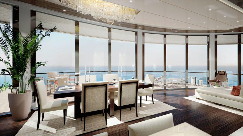 Jachta Ritz-Carlton, každý suit s vlastním balkónem