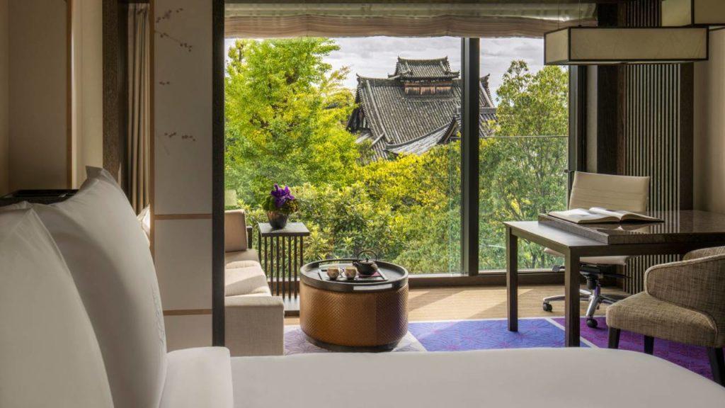 Four Seasons, Kjóto: v hotelu je k dispozici 110 pokojů a 13 suit