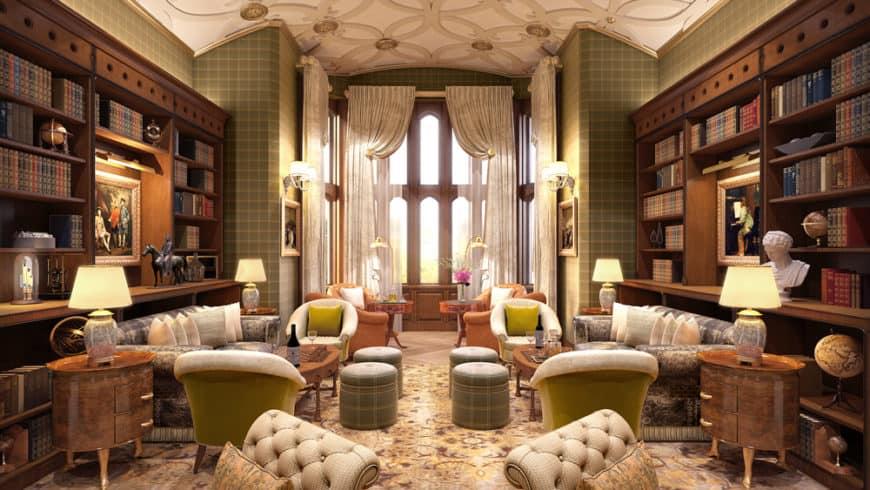 Adare Manor, Irsko: knihovna