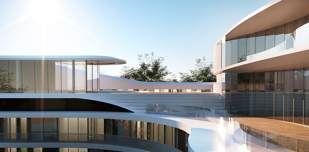Hamburk, Fontenay: na střeše mezi šestým a sedmým patrem bude dvacetimetrový bazén, lázně, restaurace, bar