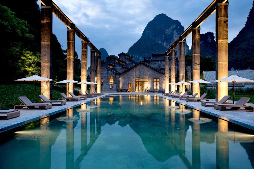 Alila Yangshuo, Čína: industriální architektura v krasových horách