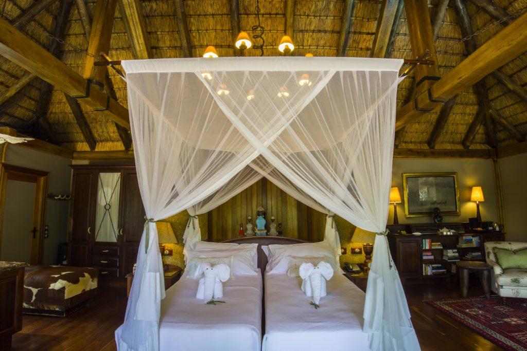 Jižní Afrika, kemp Jabulani, sloni i v posteli