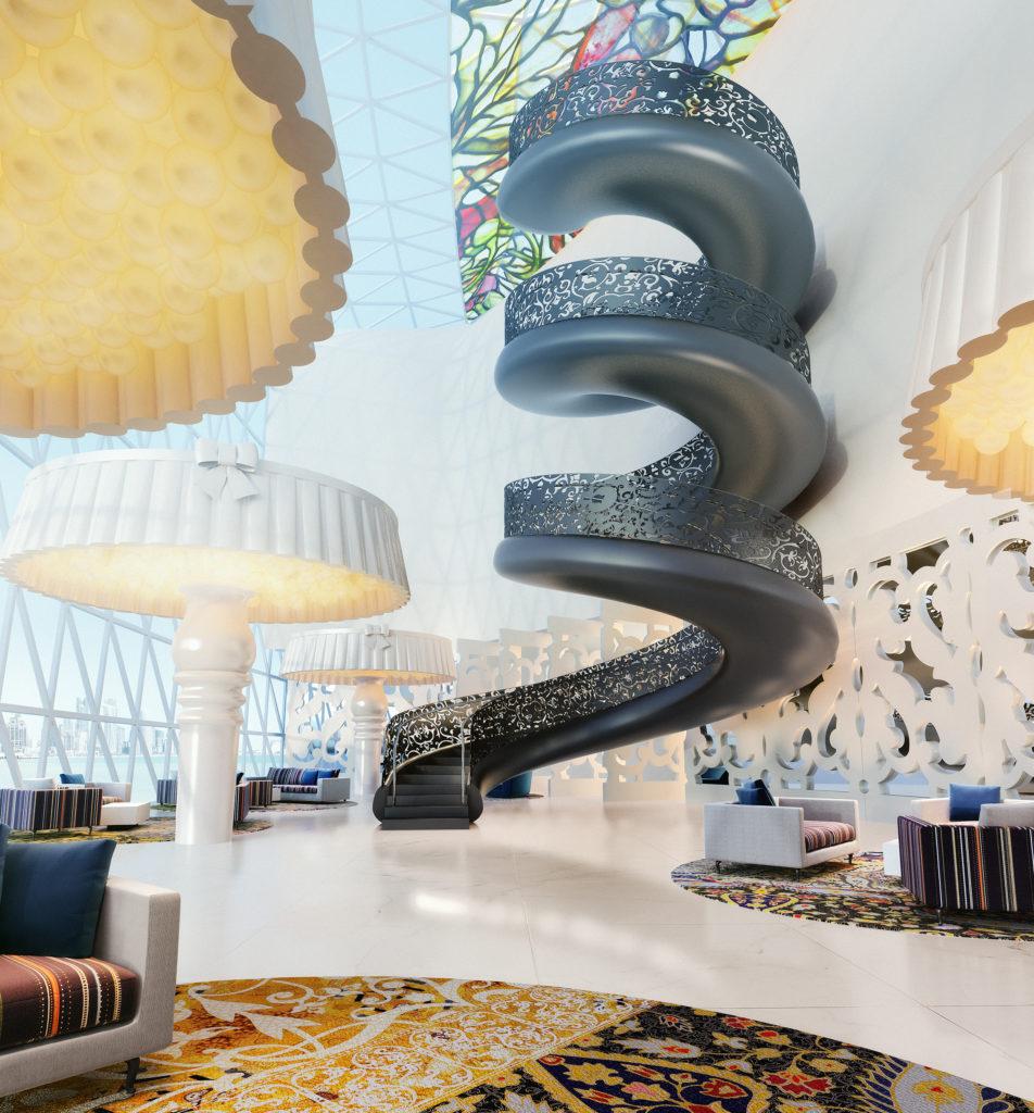 Mondrian, Dauhá: atrium