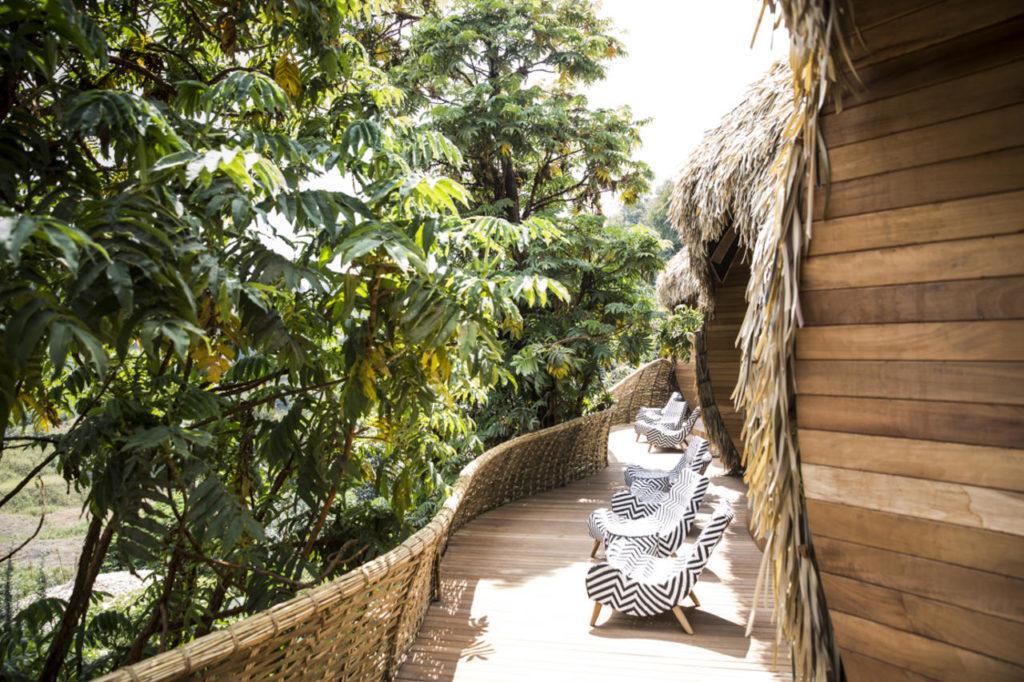 Bisate Lodge, Rwanda: terasa