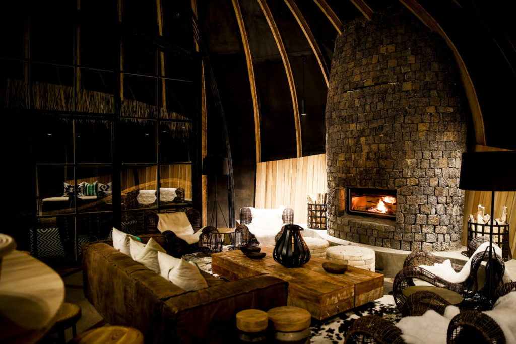 Bisate Lodge, Rwanda: lounge