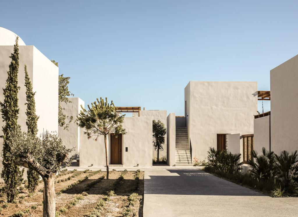 Casa Cook Kos: minimalismus venku