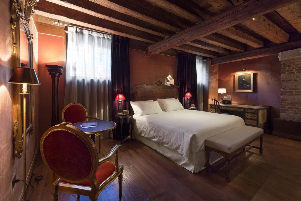 Palazzo Venart: v pokoji Roberta Browninga se hodí předčítat poezii