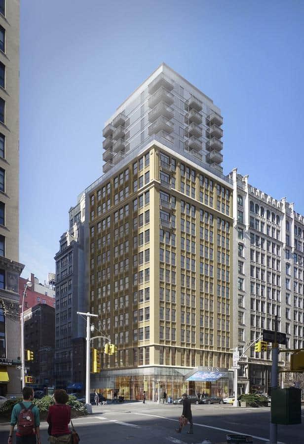 Mondrian, New York: kancelářská budova z roku 1918 plus pět pater navíc