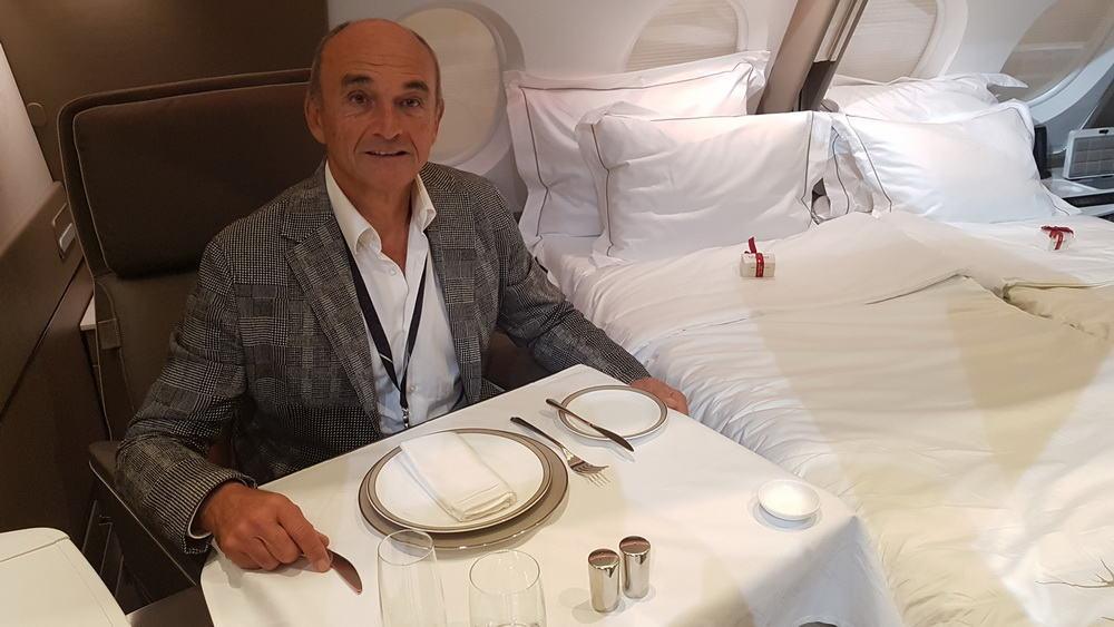Tvůrce nové generace suitů v A380 Singapurských aerolinií Jacques Pierrejean