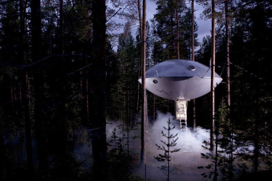 Treehotel, Harads, Švédsko: abyste dostali chuť se tam podívat