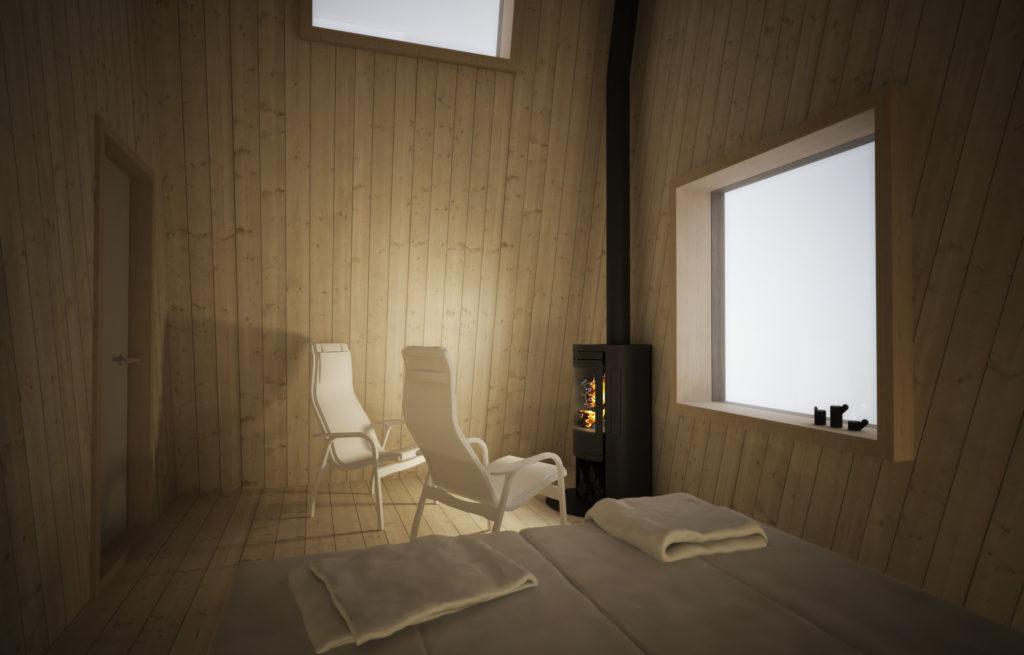 Arctic Bath, Harads, Švédsko: minimalistický design