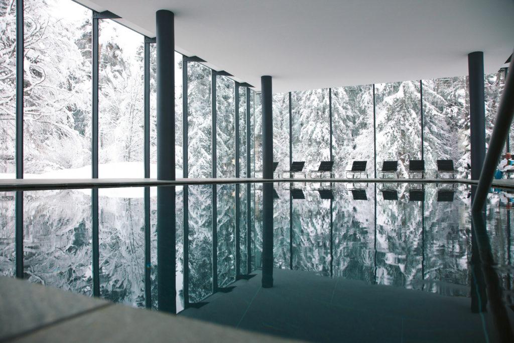 Waldhaus Flims, Švýcarsko: lázně s velkým bazénem