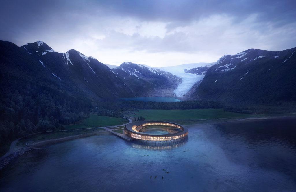 Svart, Norsko, hotel pod ledovcem