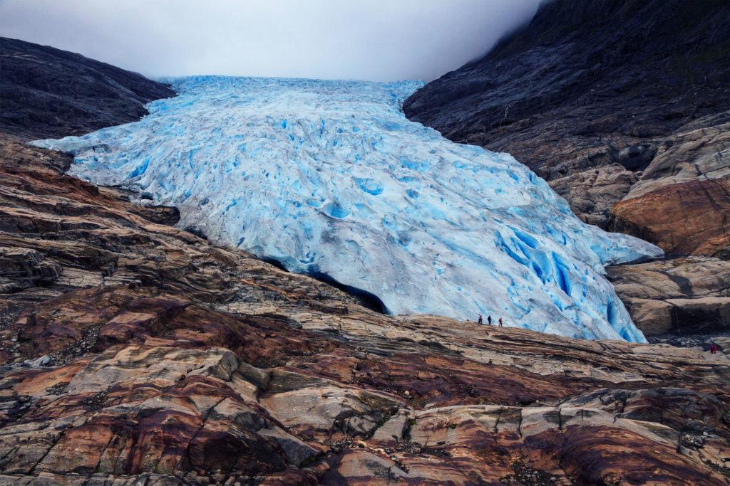Svart, Norsko, ledovec Svartisen