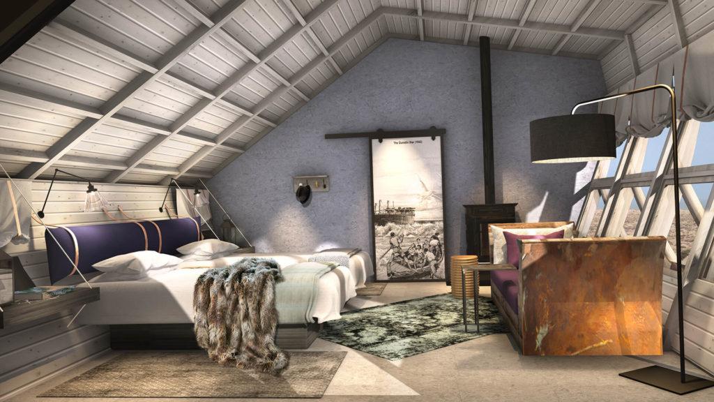Shipwreck Lodge, Namibie: ložnice