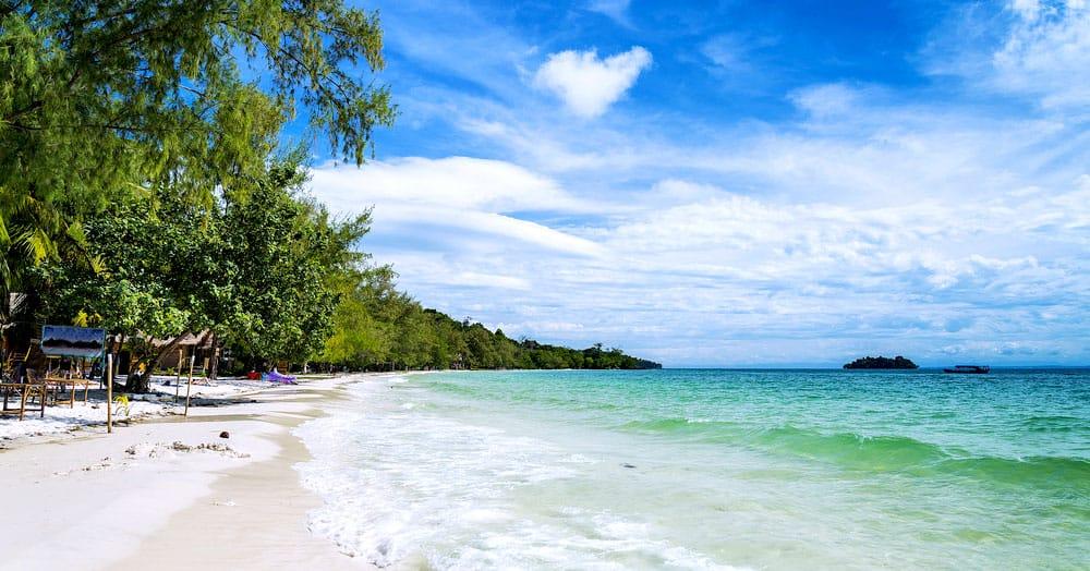 Pláž v Sihanoukville