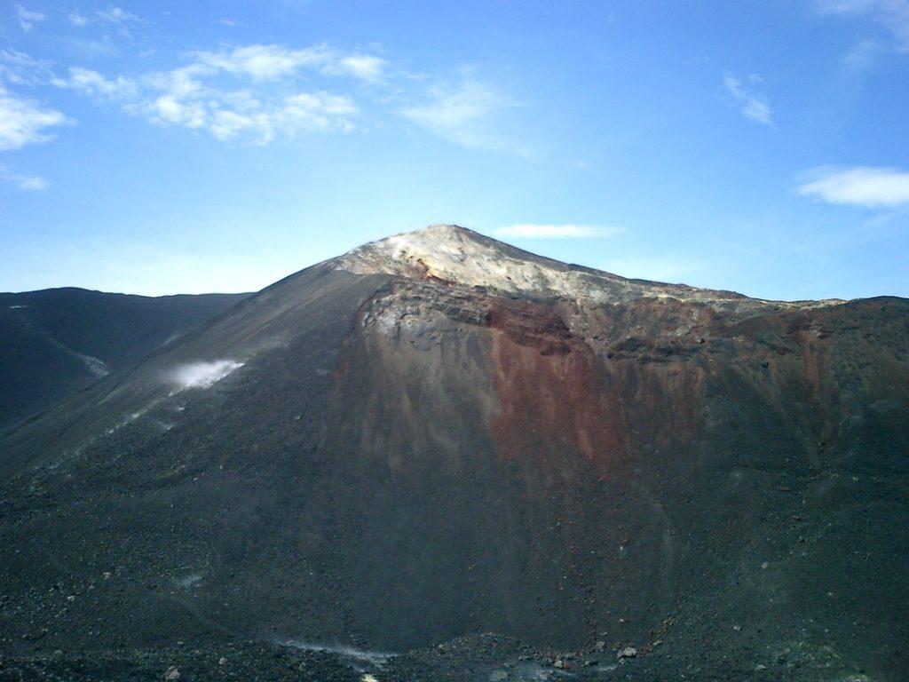Cerro Negro, Nikaragua: pohled do kráteru