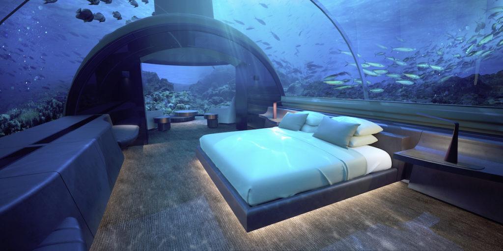 Conrad Rangali, Maledivy: ložnice