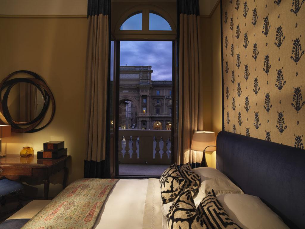 Savoy, Florencie: výhled na Náměstí Republiky