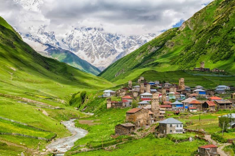 Svanetská vesnice Ushguli