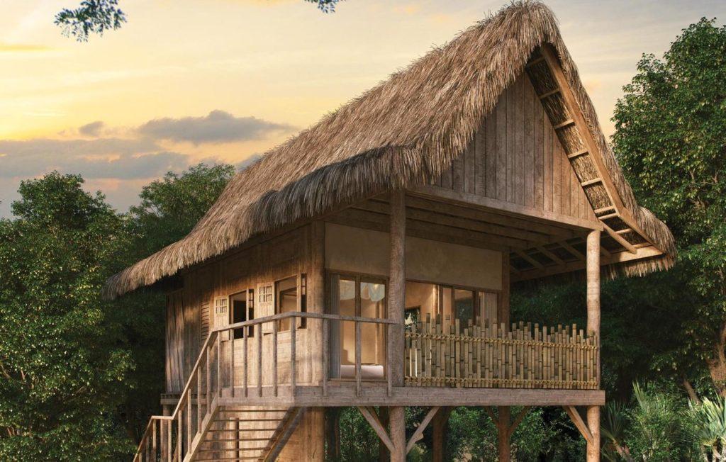 Wa Ale Island, Myanmar: stromový domek