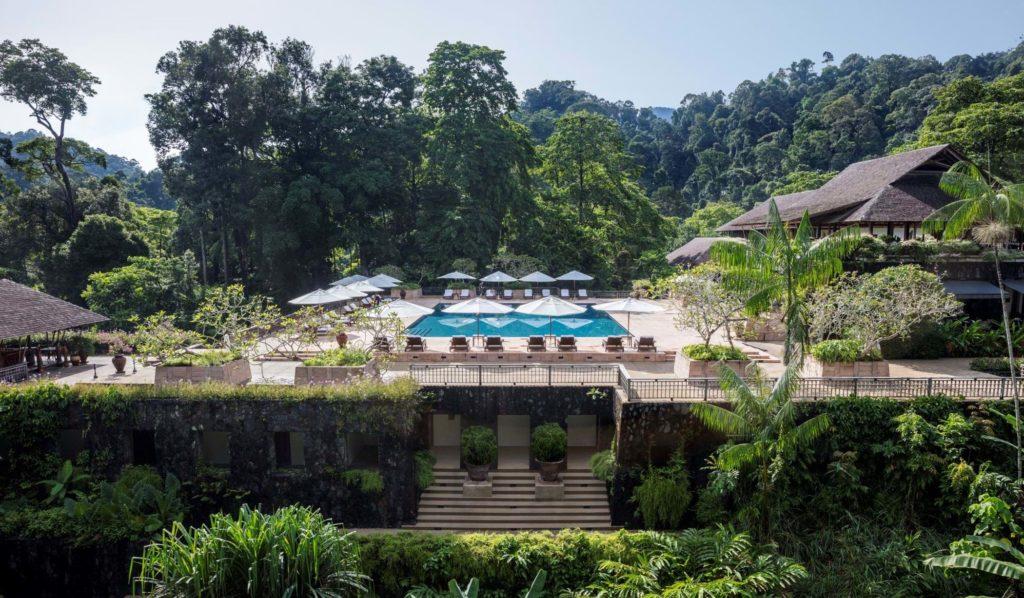 Datai Langkawi, Malajsie: bazén s barem