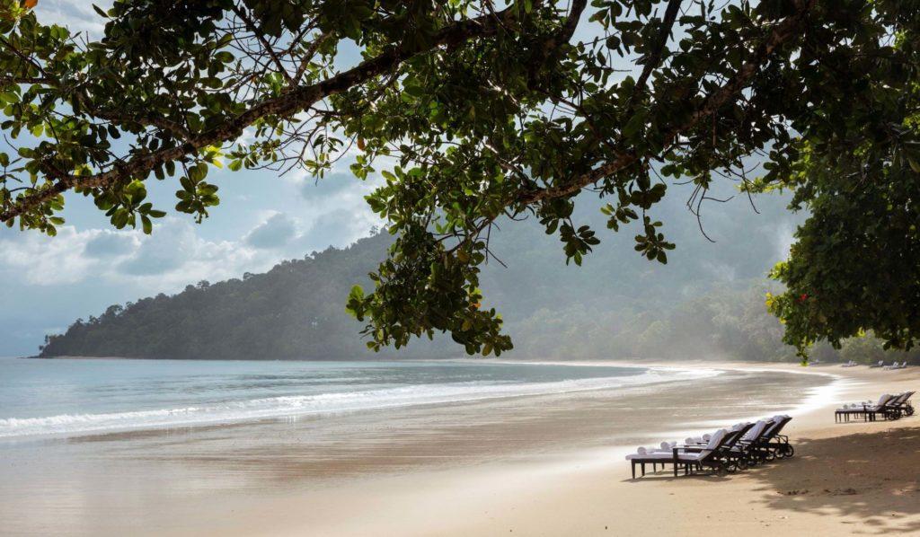 Datai Langkawi, Malajsie: privátní pláž