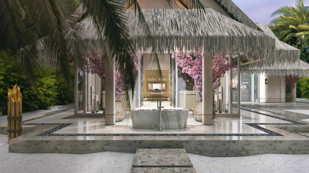 Joali, Maledivy: plážová vila se dvěma bazény