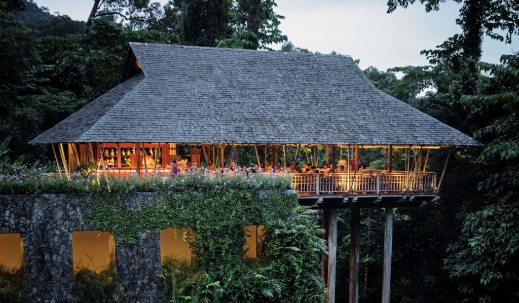 Datai Langkawi, Malajsie: restaurace Pavilon s vyhlídkou