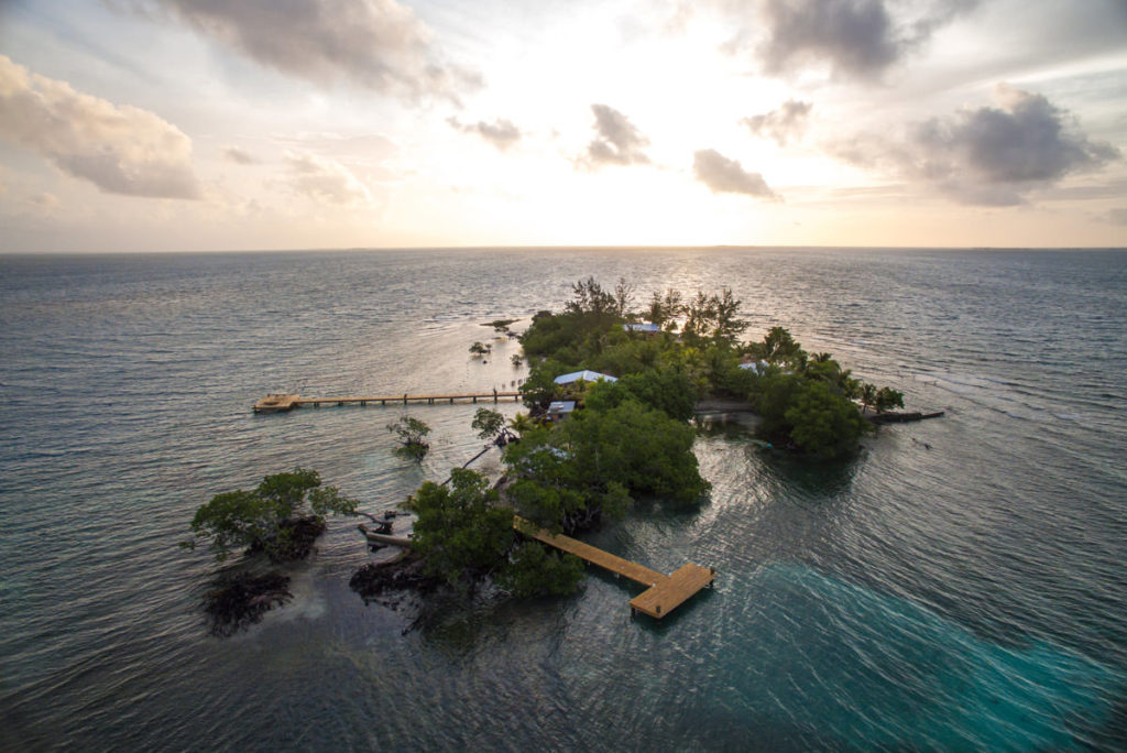 Coral Caye, Belize: na návštěvě u Coppolů