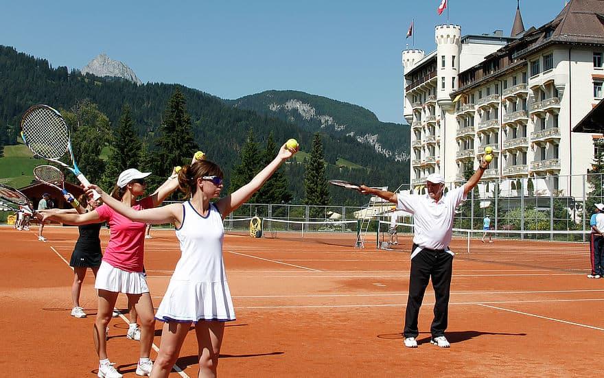 Tenisová škola v Gstaadu