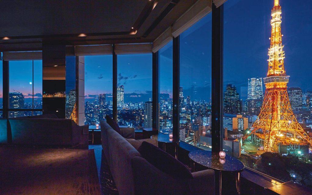 Prince Park Tower, Tokio: výhledy z restaurace