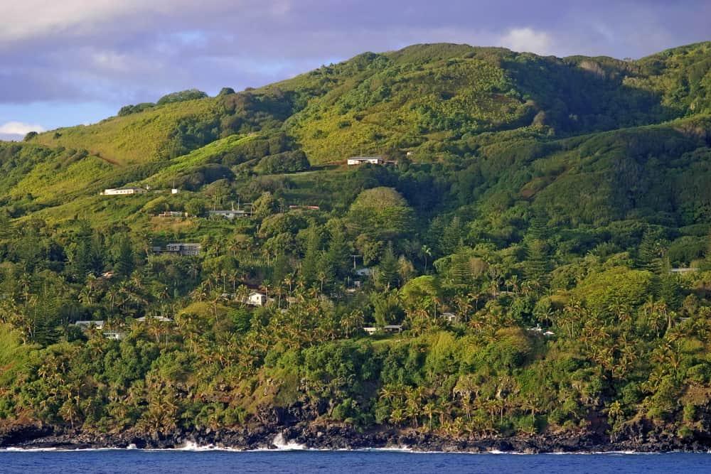 Pitcairnské hlavní město Adamsvile