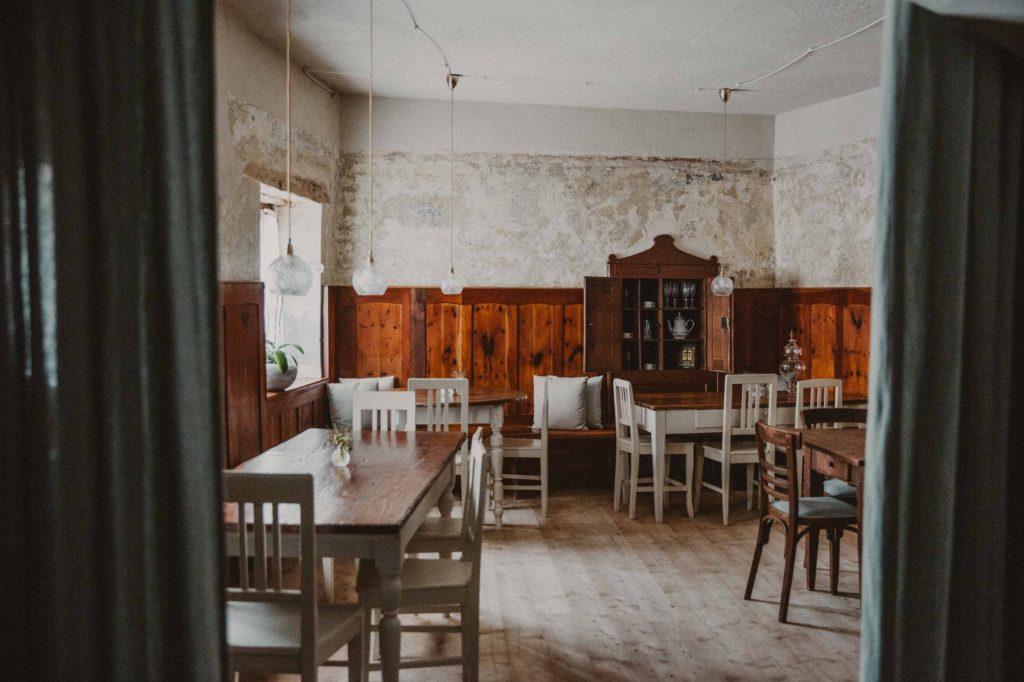 1477 Reichhalter, Lana, Jižní Tyrolsko: restaurace a kavárna v jednom