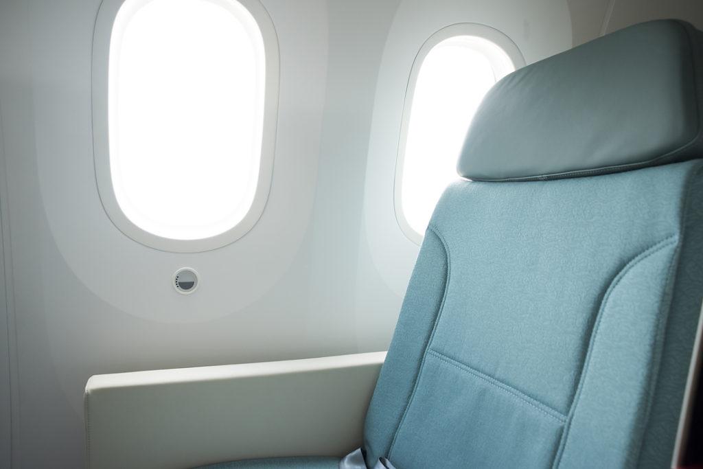 Dreamliner: velká okna s ovladačem zatmívání