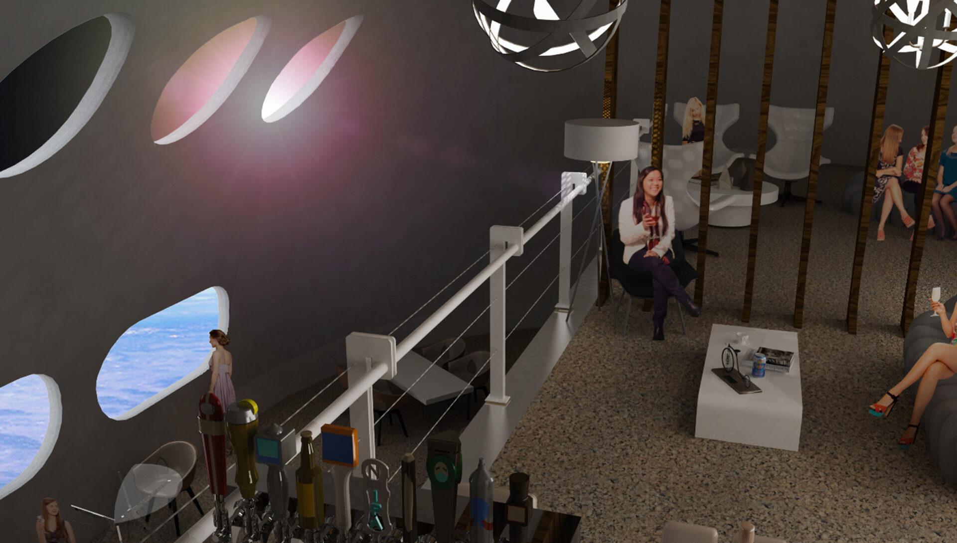 Von Braun Space Station: bar