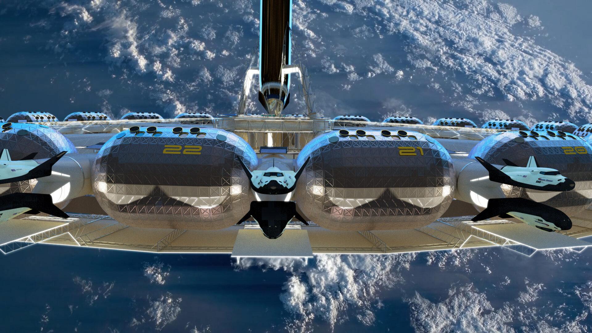Von Braun Space Station: pokoje číslo 22 a 21